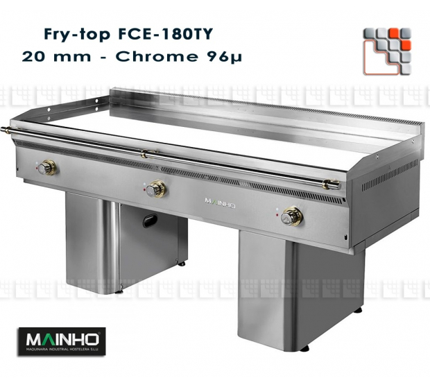 Fry-Top FCE-180/7 UniCrom Mainho FCE-180/7 MAINHO® Fry-Tops MAINHO EURO-CROM Snack