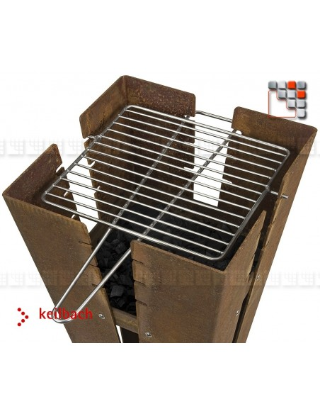 Grill Inox Reversible pour Barbecue Barbecue Four et