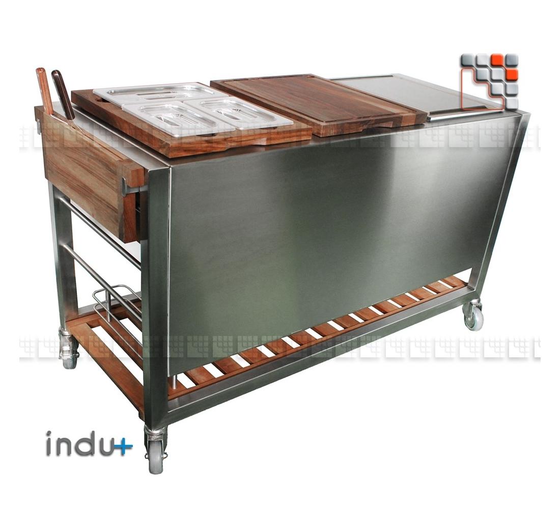 Cart TomBoy Ultimo Walnut Teppanyaki 380 Indu+