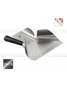 Shovel has Mould 18/10 Stainless steel for a la plancha or fried