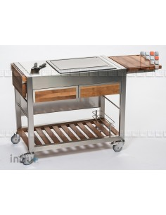 TomBoy Duo Walnut I24-130030001 INDU+® nv/sa Summer kitchen INDU+