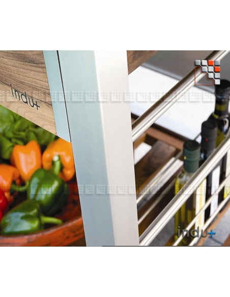 TomBoy Ultimo Noyer Indu+ I24-130030002 INDU+® nv/sa Cuisine d'été INDU+