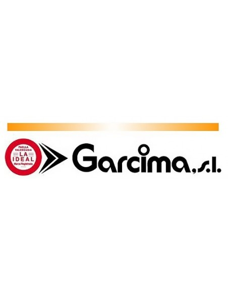 Poele Creuse D36 PataNegra Emaillee Garcima G05-87036 GARCIMA® LaIdeal Plat Paella Emaillé PataNegra