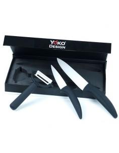 Set Knives Office Ceramique A LA PLANCHA 502ACORK01 A la Plancha® cutting