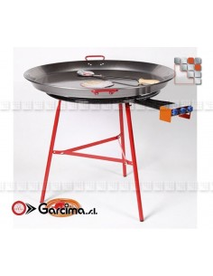 Kit Plat Paella 80L Pata Negra Garcima G05-K85080L GARCIMA® LaIdeal Kit Plat Paella Garcima