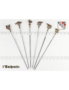 Set de 6 Piques Laiton a Brochettes L'Authentic 504ACPB002 A la Plancha® Art de la table