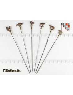 Set of 6 Hairpins Brass has Skewered The Authentic 504ACPB002 A la Plancha® Table decoration