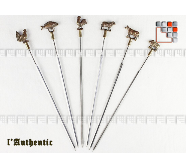 Brochettes Authentique Inox Laiton