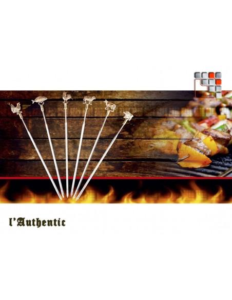 Brochettes Authentique Inox Laiton
