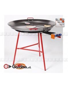 Kit Plat Paella 80D Acier Poli Garcima G05-K10080 GARCIMA® LaIdeal Kit Plat Paella Garcima