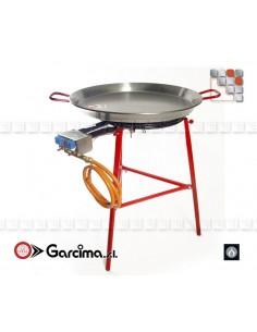 Kit Paella Ibiza 70D Acier Poli G05-K10070 GARCIMA® LaIdeal Kit Plat Paella Garcima
