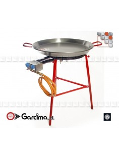 Kit Paella Suquer 70D Acier Poli Garcima G05-K10070 GARCIMA® LaIdeal Kit Plat Paella Garcima