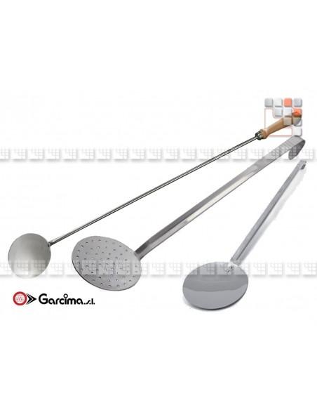 Garcima stainless steel and wood skimmer G46-70550 GARCIMA La Ideal - Accessoires Ustensils Paella Garcima