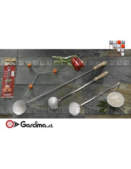 Ecumoire Inox et Bois Paella GARCIMA G46-70550 GARCIMA La Ideal - Accessoires Ustensiles Paella Garcima