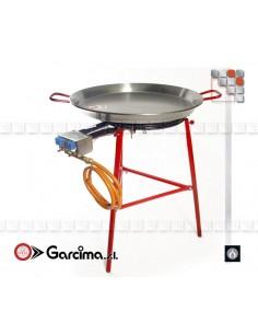 Kit Paella 70L IBIZA Inox G05-K70070L GARCIMA® LaIdeal Kit Plat Paella Garcima
