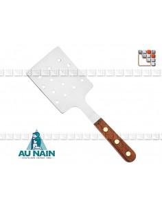 Pelle à trous Palissandre 25 AUNAIN A38-1340301 AU NAIN® Coutellerie Couverts de Service