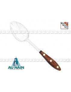 Plain Serving Spoon Rosewood 26 AU NAIN A38-1340601 AU NAIN® Coutellerie Couverts de Service