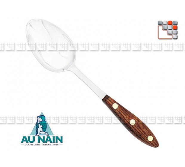 Serving spoon full rosewood 26 of THE DWARF 501N1340601 AU NAIN® Coutellerie Kitchen Utensils