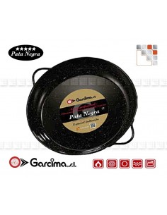 Deep Dish Emaillé PataNegra Garcima 21824 GARCIMA® LaIdeal Enamelled PataNegra Paella Pan