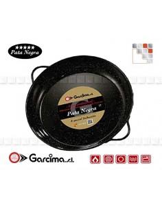 Deep Enamel Dish PataNegra Garcima G05-21824 GARCIMA® LaIdeal Enamelled PataNegra Paella Pan
