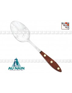 Perforated Olive Spoon Rosewood 26 AU NAIN A38-1340701 AU NAIN® Coutellerie Couverts de Service