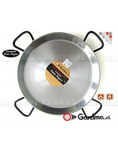 Paella Dish D80 Polished PataNegra Garcima G05-85080 GARCIMA® LaIdeal Paella Poli dish PataNegra Garcima