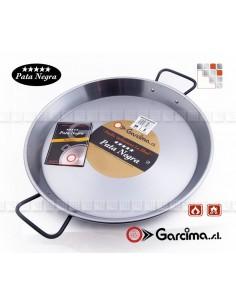 Flat Paella D70 Polished PataNegra Garcima 1C85070 GARCIMA® LaIdeal Paella Poli dish PataNegra Garcima