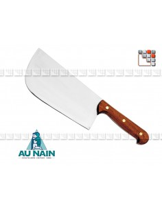 Stainless Steel Cleaver Salers Rosewood 26 AU NAIN A38-1562901 AU NAIN® Coutellerie cutting