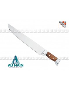 couteau a decouper pecheur chasseur au nain