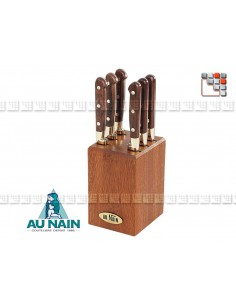 Support 6 knives Rosewood steak AT the DWARF 501N1802501 AU NAIN® Coutellerie Table decoration