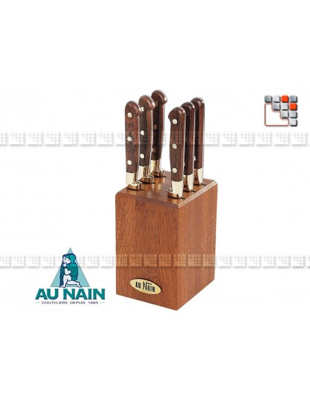 Support 6 knives Rosewood steak AT the DWARF A38-1802 AU NAIN® Coutellerie Table decoration