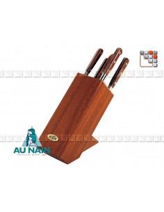 Bloc incliné Chesterfield Prince Gastronome Palissandre AUNAIN A38-1802601 AU NAIN® Coutellerie Couteaux & Découpe