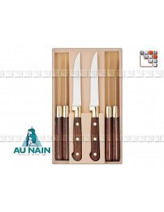 Coffret 6 couteaux steak palissandre AU NAIN 501N1804001 AU NAIN® Coutellerie Art de la table