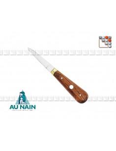 Couteau Huître Lancette Palissandre AUNAIN A38-1622401 AU NAIN® Coutellerie Couteaux & Découpe