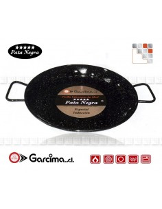 Plat Paella D38 PataNegra Email-Induction Garcima G05-85238 GARCIMA® LaIdeal Plat Paella Emaillé PataNegra