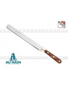 Couteau Jambon alvéolé Palissandre 25 AUNAIN A38-1801401 AU NAIN® Coutellerie Couteaux & Découpe