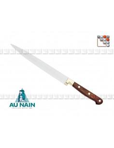 Couteau Tranchelard Palissandre 23 AUNAIN A38-1800801 AU NAIN® Coutellerie Couteaux & Découpe