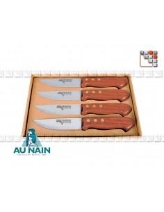 Coffret 4 couteaux trappeur grand modèle palissandre AU NAIN 501N1281361  Art de la table
