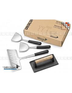 Kit Plancha 4 Ustensiles Déglon 504AP6444104 DEGLON® Ustensiles de Cuisine