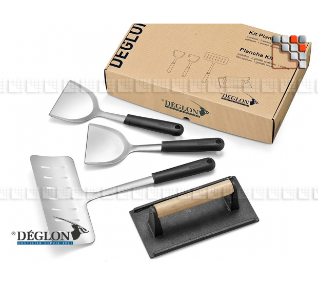 Kit Plancha 4 Ustensiles Déglon D15-6444104 DEGLON® Ustensiles Special Cuisine Plancha