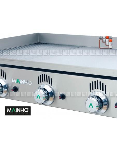Plancha NCR-80 Novo Crom Grooved Mainho NCR-80 MAINHO® Plancha MAINHO NOVO CROM SNACK