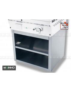 Meuble Inox 60 Frytop Grill MAINHO M04-STM60 MAINHO® Fry-Top 50 FULLCROM EUROCROM EUROSNACK