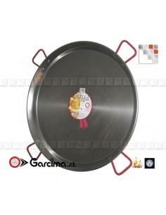 Paella Pan D90 Polished Garcima G05-10090 GARCIMA® LaIdeal Paella Poli dish PataNegra Garcima