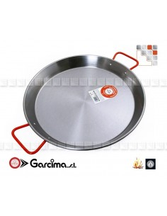 Paella pan D80 Polished Garcima 10080 GARCIMA® LaIdeal Paella Poli dish PataNegra Garcima
