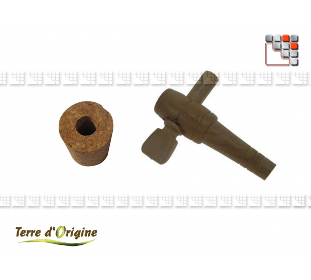 Bouchon + robinet de vinaigrier Terre d'Origine T41-00361 Terres d'Origine Ustensiles de Cuisine