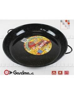 Dish Emaille Deep Cazuela Garcima 20818 GARCIMA® LaIdeal Enamelled PataNegra Paella Pan