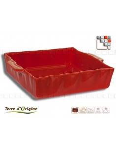 Festo square dish 25x21 Terre d'Origine T29-00378C Terres d'Origine Table decoration