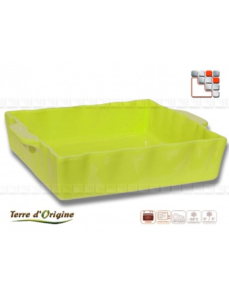 Square flat Festo 250 x 210 x 70 Land of Origin T29-00378C Terres d'Origine Table decoration