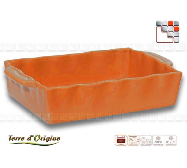 Flat rectangle Festo 250 x 150 x 70 Land of Origin T29-00395C Terres d'Origine Table decoration