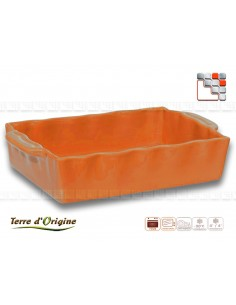 Plat rectangle Festo 350 x 210 x 70 mm Terre d'Origine